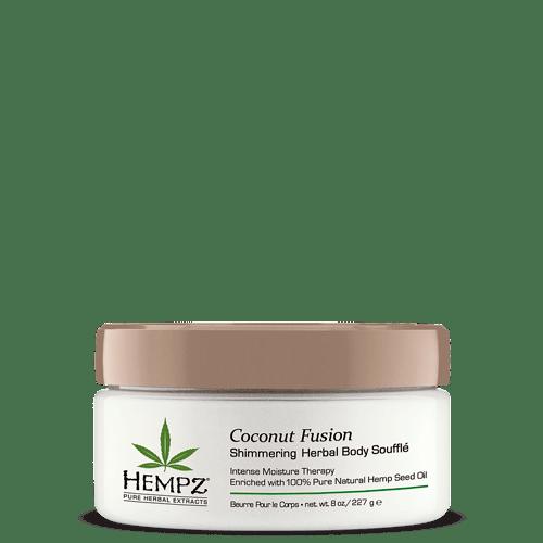 Суфле для тела с Мерцающим эфектом/ Herbal Body Souffle Coconut Fusion (227g) — Hempz Уход за телом Фотография