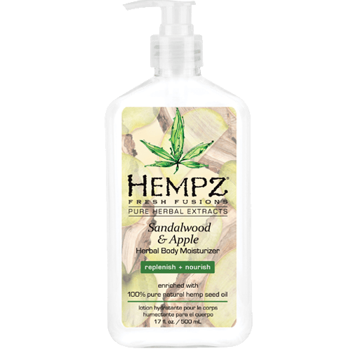 Молочко для тела — Сандал и Яблоко / Sandalwood & Aplle Herbal Body (500ml) — Hempz Уход за телом Фотография