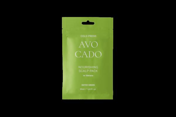 Питательная маска для кожи головы с маслом авокадо и экстрактом банана, 50 мл — Rated Green Уход за волосами Фотография