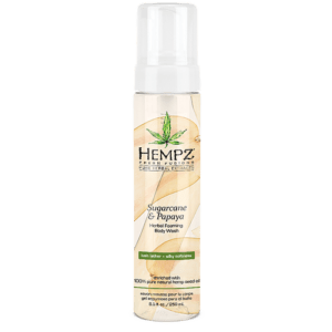 Гель-мусс для душа  Сахарный тростник и Папайя/Sugarcane & Papaya Herbal Foaming Body Wash (250ml) — Hempz Уход за телом Фотография