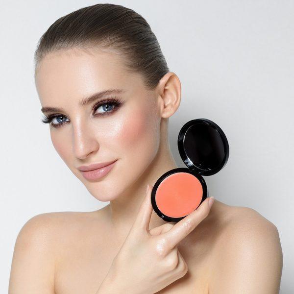 Кремовые румяна Sexy Cream Blush SHINY PEACH — Romanova make up Уход за лицом Фотография