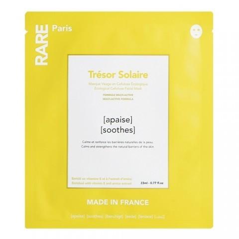 Успокаивающая Тканевая Маска Rare Paris Trésor Solaire Soothing Face Mask Box 5 шт — RARE Paris Уход за лицом Фотография