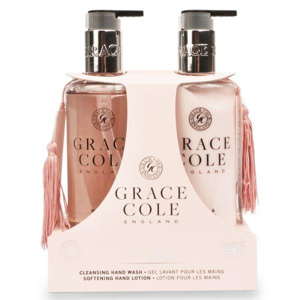 Подарочный набор для рук  (мыло и лосьон)  Дикий инжир и розовый кедр/Wild Fig & Pink Cedar — Grace Cole Уход за телом Фотография