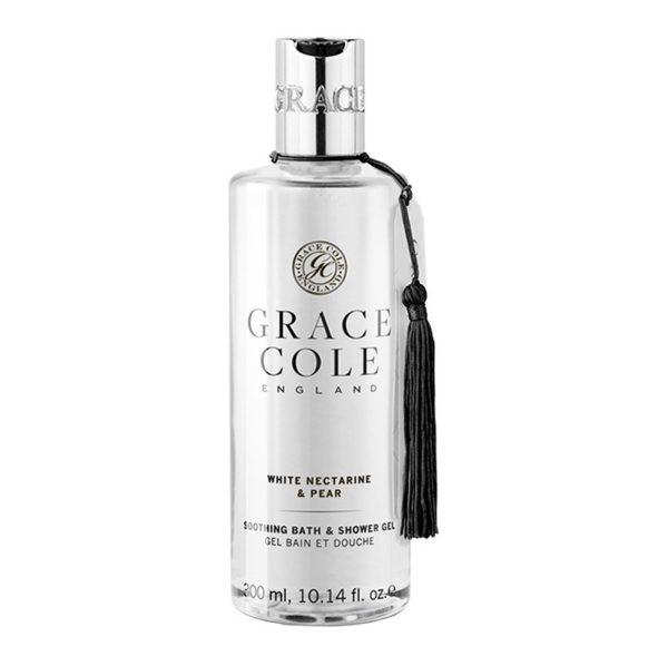 Гель для ванны и душа Белый нектарин и груша 300мл./White Nectarine & Pear — Grace Cole Уход за телом Фотография