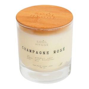 hit CHAMPAGNE ROSÉ ароматическая свеча дерево — Soul Hygge Аксессуары Фотография