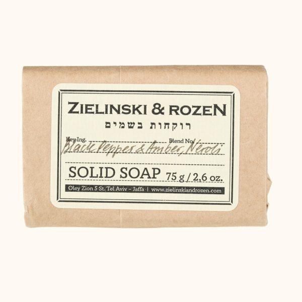 Твердое мыло Черный перец, Амбра, Нероли (75гр) — Zielinski & Rozen Уход за телом Фотография