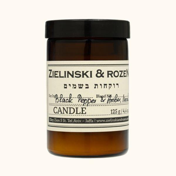 Свеча Черный перец, Амбра, Нероли (125гр) — Zielinski & Rozen Аксессуары Фотография