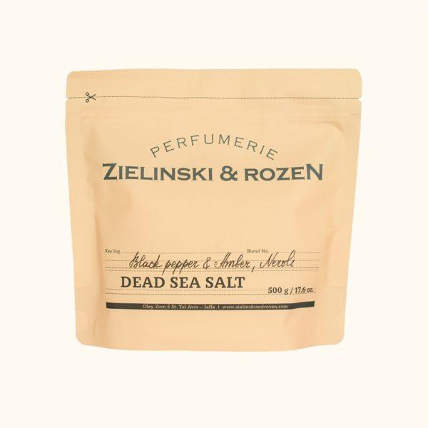 Соль мертвого моря Черный перец, Амбра, Нероли (500гр) — Zielinski & Rozen Уход за телом Фотография