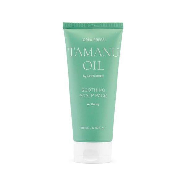 Успокаивающая маска для кожи головы с маслом таману 200 мл — Rated Green Уход за волосами Фотография