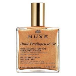Мерцающее сухое масло для лица , тела и волос Huile Prodigieuse Or 100 ml — Nuxe Уход за телом Фотография
