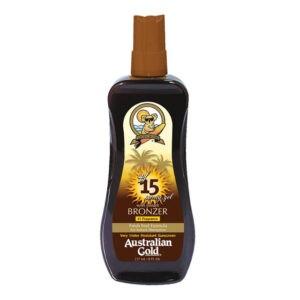 Водостойкий солнцезащитный спрей SPF 15 spray gel bronzerb 237ml — Australian Gold Уход за телом Фотография
