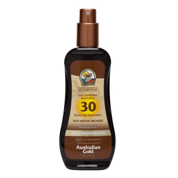 Водостойкий солнцезащитный спрей SPF 30 spray gel bronzer 237ml — Australian Gold Уход за телом Фотография