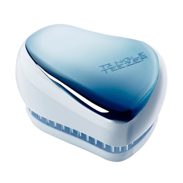 Расческа Compact Styler Sky Blue Delight Chrome — Tangle Teezer Уход за волосами Фотография